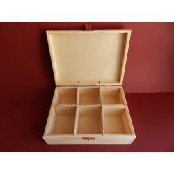 Krabica na čaj - 6 priehradkova