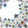 Ľudový motív modrý na bielom