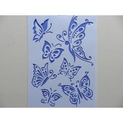 Tupovacia šablona A4 - motýle