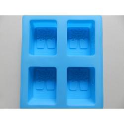 Silikónová forma na mydlo - 4x strom 19x15,5 cm