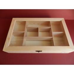 Krabica s 8 priehradkami - 30x19x5,5 cm