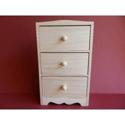 Komodka 3 šuflíky 14x6,5x23 cm