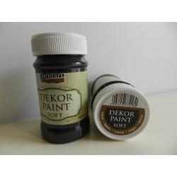Dekor paint soft - 100 ml čierna