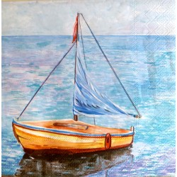Lodka na mori