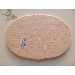 Drevená doštička ovál 15,5x21 cm