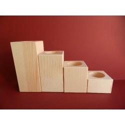 Svietnik hranol - 6x6x4 cm