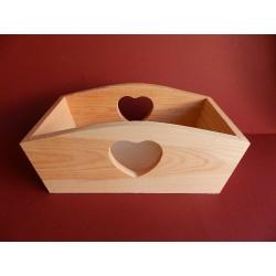 Miska so srdcom  - 24x13 cm