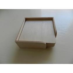 Drevené podložky pod poháre v stojane - štvorec
