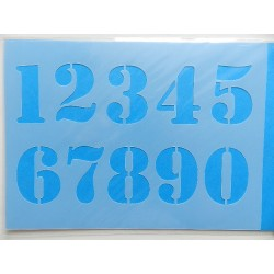 Šablony Stencil čísla