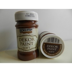 Dekor paint soft - 100 ml hnedá