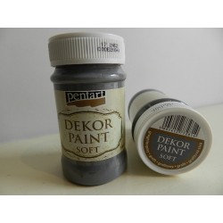 Dekor paint soft - 100 ml grafitová
