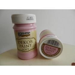 Dekor paint soft - 100 ml bejby ružová
