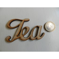 Drevený výrez - Tea - 8x5 cm