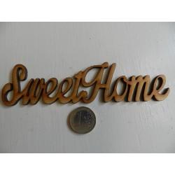 Drevený výrez - SweetHome - 14,5x3,5 cm