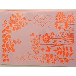 Šablona A4 - lúčne kvety