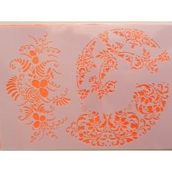 Šablona A4 - kvetinové vzory