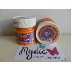 Textilná farba 50 ml - pomarančová