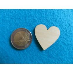 Drevené srdiečko - 3 cm