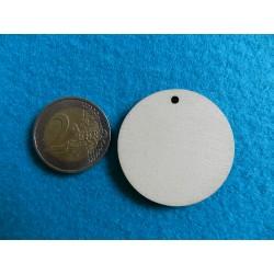 Drevený výrez kruh s dierkou - 4 cm