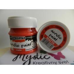 Acryl Mat - 50 ml - červená
