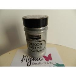 Dekor metal - 100 ml - strieborná