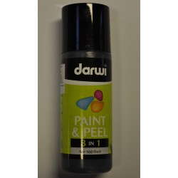 Paint & Peel 3v1 - 80 ml - 100 čierna
