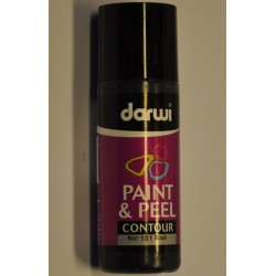 Paint & Peel kontúra  - 80 ml 101 čierna