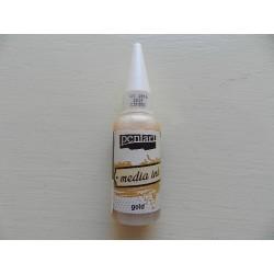 Media Ink -20 ml - zlatá