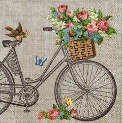 Bycikel s košíkom na sivom
