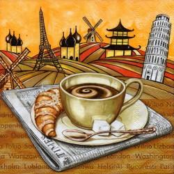 Káva s croisantom